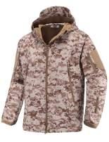 Abollria Men's Outdoor Waterproof Windbreaker Tactical Army Outdoor Coat Soft Shell Hooded Jacket