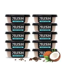 MUSH Overnight Oats Healthy Breakfast   Gluten-Free, Non-GMO, Dairy Free, High-Fiber, Protein Rich, No Added Sugar   10 Pack Coffee + Coconut Cream Oatmeal Cups