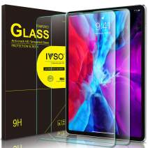 IVSO 2 Pack Screen Protector for iPad Pro 12.9 2020, Bubble-Free Tempered Glass Screen Protector for The New iPad Pro 12.9 inch 2020 Tablet