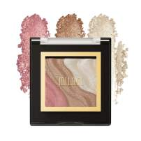 Milani Spotlight Face & Eye Strobe Palette - Candle Light (0.23 Ounce) Cruelty-Free Highlighter & Eyeshadow Compact - Shape, Contour & Highlight with Shimmer Shades