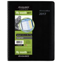 "AT-A-GLANCE Monthly Planner / Appointment Book 2017, QuickNotes, 8-1/4 x 10-7/8"" (760605)"