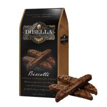Dibella Biscotti Cookies – Authentic Italian Biscotti, Double Chocolate Fudge, 6-Count – Gourmet Cantuccini Biscotti – Rich Flavor – Crunchy Outside with Silky Middle – Classic Italian Biscotti