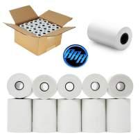 "2 1/4"" x 85', White, 72 Rolls Thermal Paper Receipt Rolls for Clover Flex, Clover Mini, Clover Mobile Pax s80 Paper roll First Data fd130 Paper Rolls"