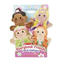 Melissa & Doug Storybook Friends Hand Puppets - The Original (Set of 4 - Princess, Fairy, Mermaid, and Ballerina - Great Gift for Girls and Boys - Kids Toy Best for 2, 3, 4, 5 and 6 Year Olds)