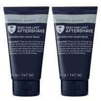 Grooming Lounge Best For Last Aftershave – Soothing Aftershave Cream, Fragrance-Free, No Sting, Heals Razor Burn & Shaving Irritation – 5 oz, 2-Pack