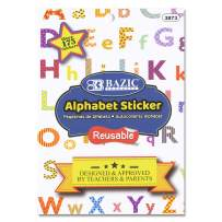 BAZIC Alphabet & Number Sticker Book, DIY sentences Birthday Christmas New Year, Scrapbooks Greeting Cards Envelope Gift, Colorful Fun for Kids Toddler Learning Teacher Classroom (Box of 24)