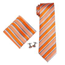 Landisun Different Stripes Patterns Mens SILK Tie Set: Tie+Hanky+Cufflinks