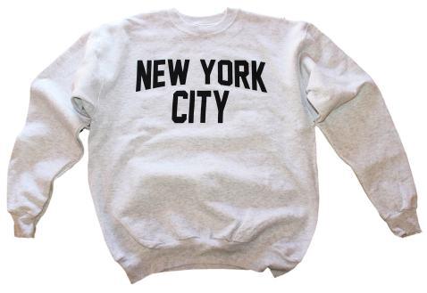 New York City Sweatshirt Screenprinted Black Adult NYC Lennon Shirt