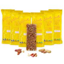 Vegan Protein Bars | Naturally Clean Eats Gluten-Free Snacks for Healthy Energy & Nutrition | Made with Prebiotics, No Added Sugar & All-Natural Ingredients | Peanut Butter & Greens 6 Pack