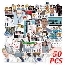 Grey's Anatomy Stickers 50pcs Drama Stickers Grey's Anatomy Merch