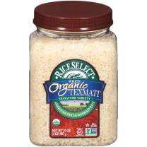 RiceSelect Organic Texmati White Rice, 32-Ounce Jars, 4-Count