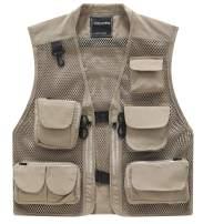 MDENOVO Men's Outdoor Fishing Travel Vest with Pockets Summer Work Jacket
