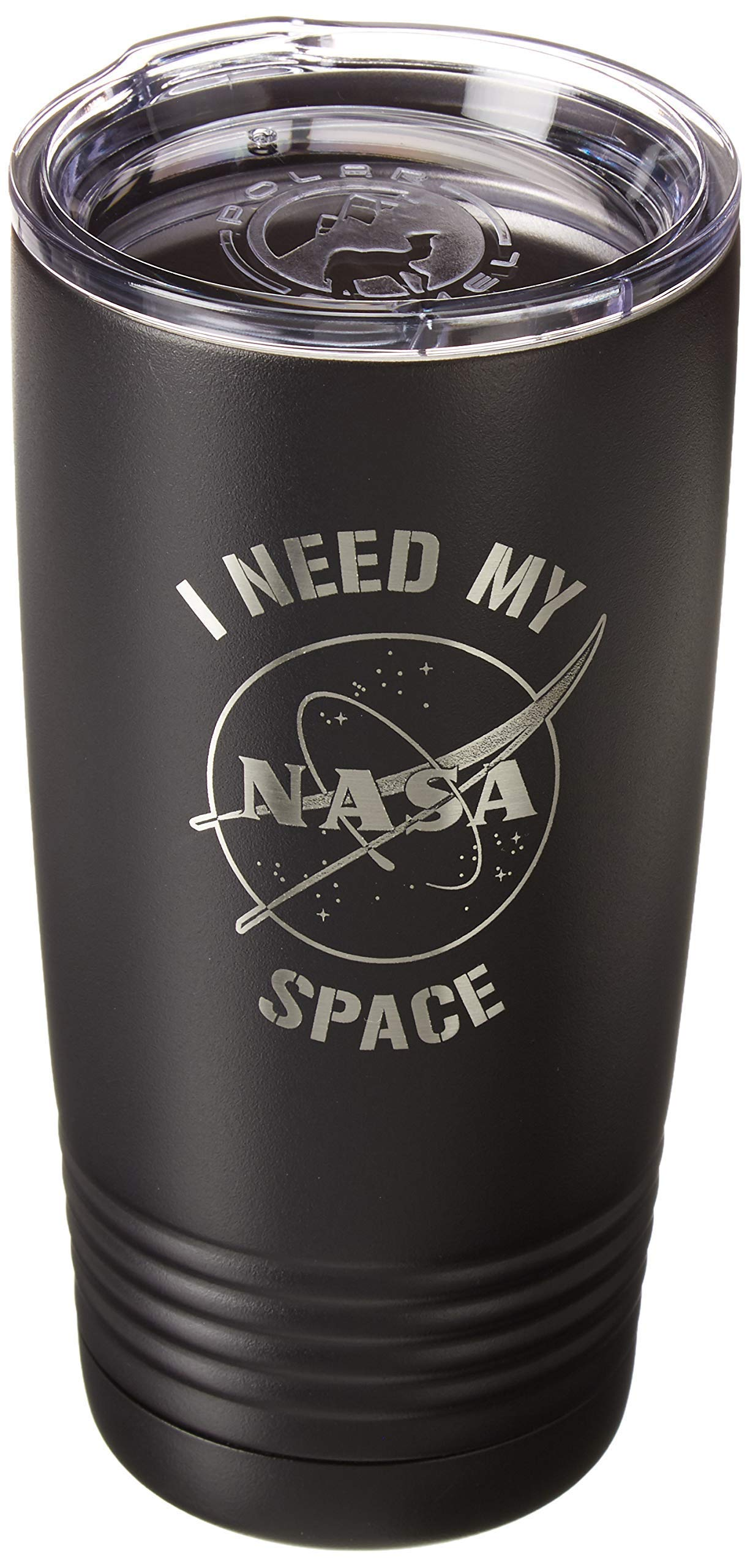 NASA I Need My Space Professionally Laser Engraved 20oz Stainless Steel/Metal Vacuum Insulated Coffee/Hot & Cold Beverage Tumbler/Cup/Mug With Plastic Lid