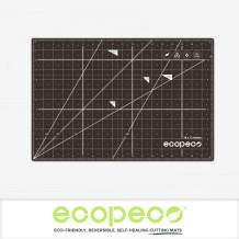 Ecopeco 12x18 Inch Brown 5-Ply Double Sided Non-Toxic Cutting Mat for Arts and Crafts, Bullet Journaling, Lettering, Origami, Paper Art, Sewing, Quilting, Quilling, Scrapbooking, Drawing, Cutting