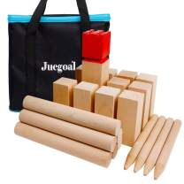 Juegoal Kubb Backyard Game Set, Outdoor Yard Tossing Family Game Viking Chess Clash Toss Yard Games with Carrying Bag for Outside, The Beach, Lawn, Backyards, Party