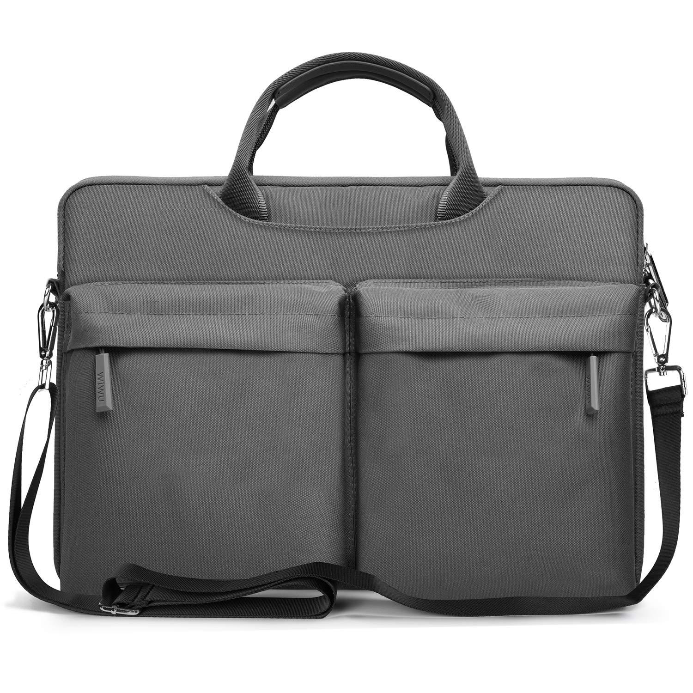 EKOOS Laptop Shoulder Bag Case, Waterproof Shockproof Laptop Carrying Bag Case Compatible 13-14 Inch MacBook Pro, MacBook Air, Ultrabook Netbook Tablet