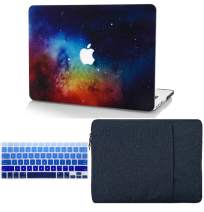 """KECC Laptop Case for MacBook Air 13"""" Retina (2020/2019/2018, Touch ID) w/Keyboard Cover + Sleeve Plastic Hard Shell Case A2179/A1932 3 in 1 Bundle (Night Dream)"""