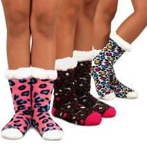 Teehee Womens Soft Premium Thermal Double Layer Crew Socks 3-Pack