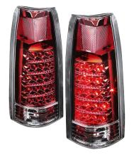 DNA TL-C10-LED-CH-RD For Chevy C/K Series Chrome Red Lens LED Tail Light