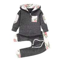 Newborn Baby Boy Clothes Outfits Infant Baby Girl Long Sleeve Hoodie Tops + Pants 0-36 Months