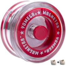 Yomega Magnetar Responsive High Performance Ball Bearing Yoyo for Kids, Designed for Beginners and Advanced String Trick and Looping Play. + Extra 2 Strings. + 3 Months Warranty. (Clear)