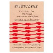 Jstyle Evil Eye Bracelet for Women Men 7 Knot Hamsa Kabbalah Bracelets Adjustable Red Protection BFF Friendship Ojo Good Luck String Bracelet