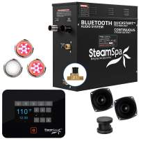 SteamSpa Raven Bluetooth Series 6kW QuickStart Steam Bath Generator Package in Oil Rubbed Bronze | Steam Generator Kit with Touch Screen Auto Drain Steamhead and Bluetooth Speakers | RVB600ORB-A