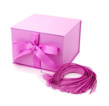 """Hallmark 7"""" Gift Box (Light Pink) for Mother's Day, Birthdays, Bridal Showers, Weddings, Baby Showers, Bridesmaids Gifts, Valentines Day and More"""