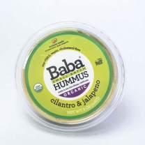 Baba Small Batch Organic Hummus (8 oz) - USDA Organic, Gluten Free, Vegan, Non-GMO, Cholesterol Free, Zero Preservatives (Cilantro & Jalapeno Hummus)