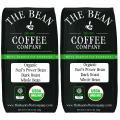 The Bean Coffee Company Organic Suzi's Power Bean, Dark Roast, Whole Bean, 16-Ounce Bags (Pack of 2)