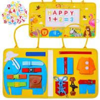 Basumee Toddler Busy Board Toys for Kids Sensory Toys Develops Basic Skills Activity Board Boys Girls Educational Learning Toy - Best Toy Gift for 1 2 3 4 Year Old Girls Boys Airplane