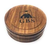 """GBS Men's Wood Shaving Bowl with Lid 3.5"""" Diameter - Keep Shave Cream & Shave Soap Clean with Cover. Wood Grains Will Accent Any Shaving Razor, Shave Brush or Barber Accessory. Enhance Your Wet Shave"""