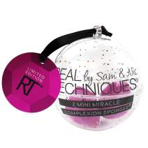 Real Techniques 2 Mini Miracle Complexion Sponge Ornament Cosmetics Sponges for Blending, Ideal For Holiday Gifts