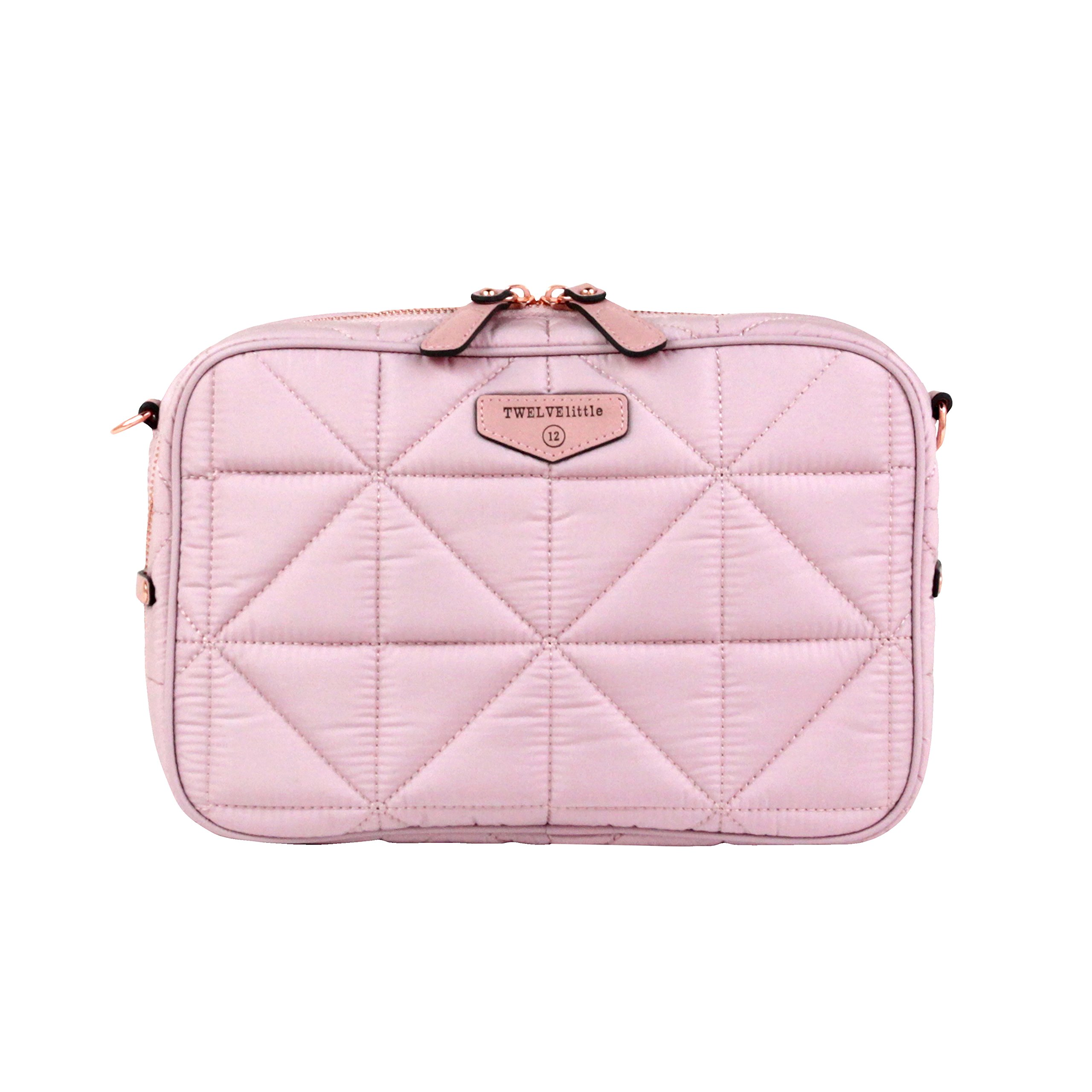 TWELVElittle Diaper Clutch 2.0 (Blush Pink - New) - Fashion Diaper Bag for Moms and Dads, Worn As Clutch or Crossover Bag with Compartments for Diapers, Wipes and Changing Pad