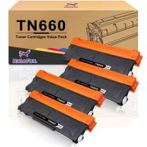 HaloFox Compatible Toner Cartridge for Brother TN660 TN630 DCP-2560DN MFC-L2707DW MFC-L2700DW HL-L2380DW DCP-L2540DW MFC-L2740DW MFC-L2685DW HL-L2300D Printer (Black, 4-Pack)