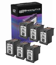 Speedy Inks Remanufactured Ink Cartridge Replacement for HP 98 C9364WN (Black, 6-Pack)