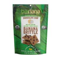 Barnana Organic Crunchy Banana Brittle - Toasted Coconut Chocolate Chips, 3.5 Ounce - Healthy Vegan Cookie Style Dessert Snack - Made with Sustainable, Eco Friendly Upcycled Bananas