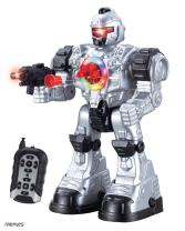 Memtes Remote Control Robot Toy, Shoots Soft Rubber Missiles, Flashing Lights and Sound, Walks, Talks, and Dances