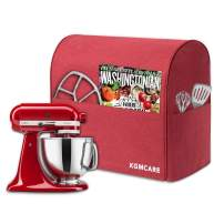 KGMcare Stand Mixer Cover, Dust Cover Compatible with KitchenAid Stand Mixer, Kitchen Small Appliance and Extra Accessories Protector Shield (Red, Fits for 4.5-Quart and All 5-Quart)