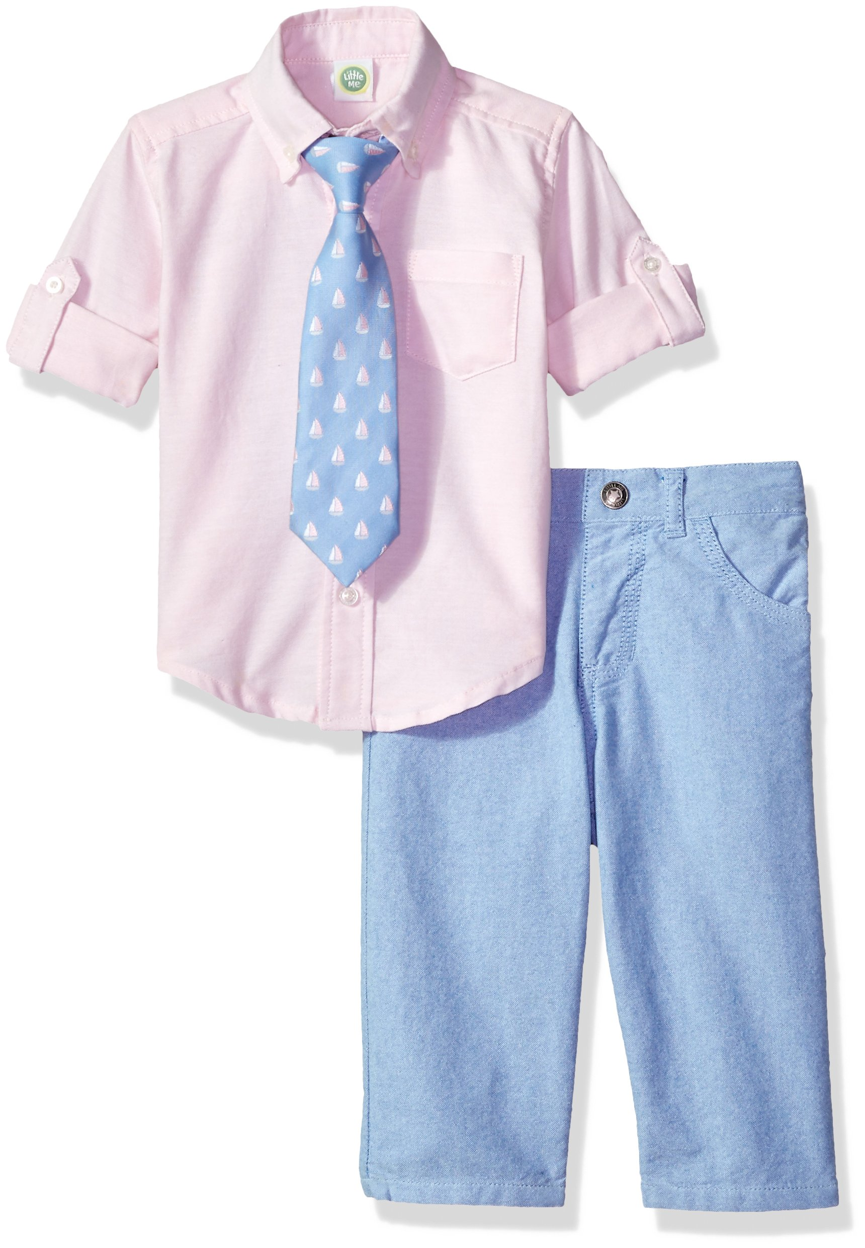 Little Me Baby Boys' Woven Pant Shirt and Tie Set