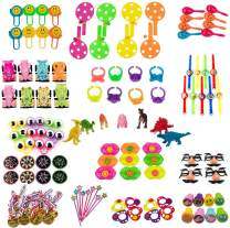 AIMEDYOU 120Pcs Party Birthday Favor Toys Assortment Pack Bulk Pinata Filler Toy Sets for, Carnival Prizes Game, Events, School Classroom Rewards for Kids, Boys and Girls