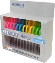 "Westcott 14871 5"" School Pack of Kids Scissors with Anti-Microbial Protection, Blunt, Assorted Colors (Pack of 12)"