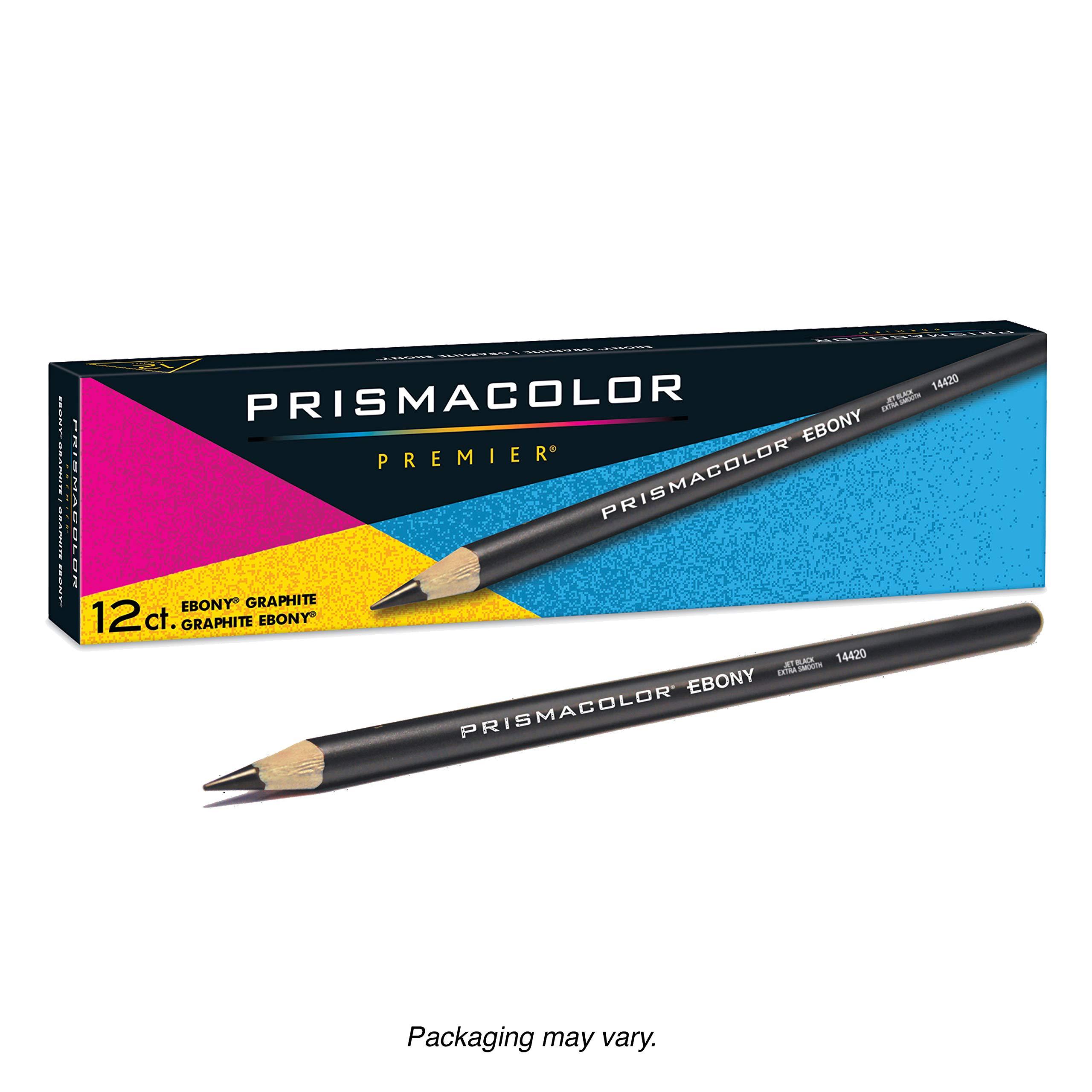 Prismacolor Ebony Graphite Drawing Pencils, Black,12-Count