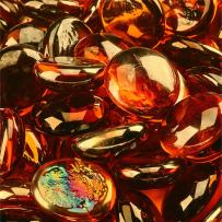 High Desert - Fire Glass Beads for Indoor and Outdoor Fire Pits or Fireplaces | 10 Pounds | 3/4 Inch, Semi-Reflective