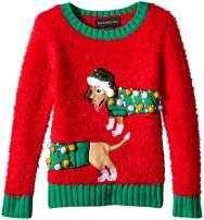 Blizzard Bay Girls Little Lama Wearing Headphones Christmas Sweater