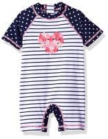 Little Me Children's Apparel Baby and Toddler Girls UPF 50+ Short Sleeve Rashguard Suit