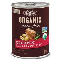 Castor & Pollux Organix Grain Free Organic Chicken & Vegetable Recipe Wet Dog Food, 12.7 Oz., Case Of 12 Cans
