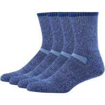 MK MEIKAN 66.6% Merino Wool Hiking Socks, Men's Trekking Cushion Crew Socks 1, 3, 4, 6 Pairs