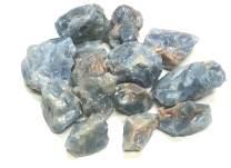 "Zentron Crystal Collection Rough Blue Calcite Stones - Large 1"" Pieces in Velvet Bag (1/2 Pound)"