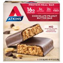 Atkins Protein Meal Bar, Chocolate Peanut Butter, Keto Friendly, 5 Count